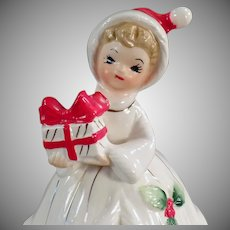 Vintage Josef Original Bell - Christmas Girl Bell - Japan