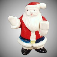 Vintage Miniature Candle Holder - Santa Claus Christmas Decoration