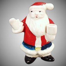 Vintage Miniature Candle Holder - Santa Claus Christmas Decoration