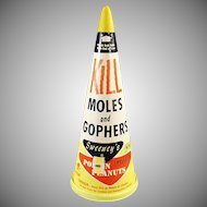 Vintage Rodent Poison Box - Sweeny's Mole and Gopher Poison Container