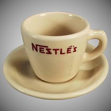 Vintage Nestle's Hot Chocolate Cup and Saucer - Sterling China