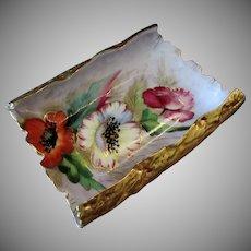 Vintage Chubu China Porcelain Tray – Beautiful Floral Design and Gold Embellishments
