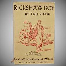 Vintage Lau Shaw Novel -  Rickshaw Boy – Nicely Illustrated Old Book