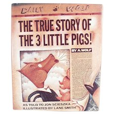 True Story of the Three Little Pigs - Fun Vintage Storybook for All Ages