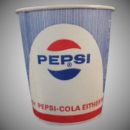 Five Vintage Pepsi Cups - Old Sweetheart Paper Cups with Diet Logo Too