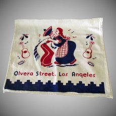 Vintage Olvera Street Los Angeles Souvenir Dish Towel – Kitchen Decoration