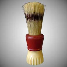 Vintage Klenzo Shaving Brush with Badger Bristles and Bakelite Handle