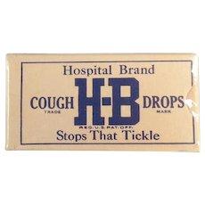 Vintage Cough Drop Sample Box - Unopened H-B Hospital Brand