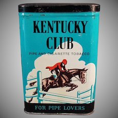 Vintage Kentucky Club Pipe and Cigarette Tobacco Tin