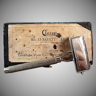 Vintage Clauss Never Fail Safety Razor with Original Box