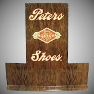 Vintage Shoe Display - Peters Diamond Brand Advertising Shoe Stand