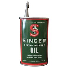 Vintage Singer Sewing Machine Oil Tin – Unusual Spout