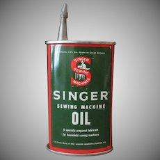 Vintage Singer Sewing Machine Oil Tin – Unusual Spout