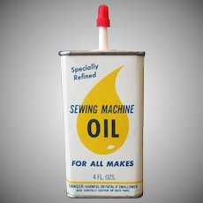 Vintage Sewing Machine Oil Tin – Drop of Oil Graphics