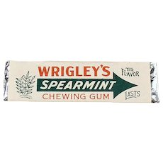 Vintage Wrigley's Spearmint Chewing Gum Stick