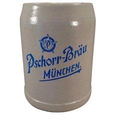 Vintage German Stoneware Beer Mug – Pschorr-Brau Muchen .5L Stein