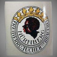 Vintage Black Memorabilia Old German Beer Mug .05L Stein