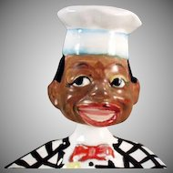 Vintage Black Memorabilia - Black Chef Nodder Spoon Rest