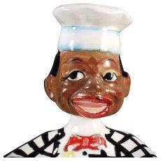 Vintage Black Memorabilia - Black Chef Nodder Spoon Rest