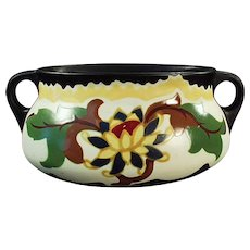 Vintage Czechoslovakian Art Pottery Console Planter - Colorful Decorator Accent Piece