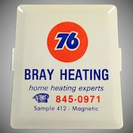 Vintage Advertising Paper Clip - Union 76 Oil - Bray Heating