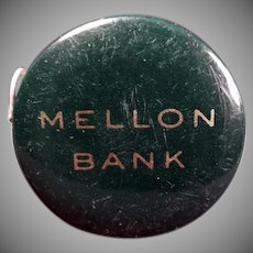 Vintage Celluloid Advertising Tape Measure - Mellon Bank