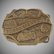 Old Morrison Knudsen Locomotive Shop Belt Buckle - MKCo. Limited Edition