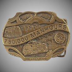 Old Morrison Knudsen Locomotive Shop Belt Buckle - MKCo. Limited Edition