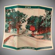 Vintage 1940 Phillips 66 Road Map – Utah State Map