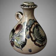 Vintage Mexican Pottery Handled Decanter Jug - Tonala Mexico – Subdued Colors