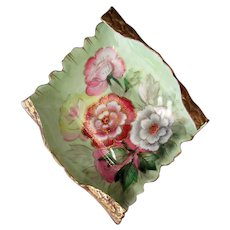Vintage Chubu China Porcelain Tray – Colorful Flowers and Gold Embellishments