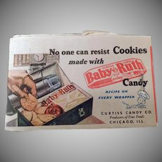 Vintage Baby Ruth Candy Lipstick Tissues with Cookie Recipe & Kleenex Advertising