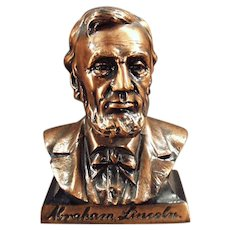 Vintage Abraham Lincoln Bust Savings Bank -  Figural Coin Bank