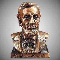Vintage Abraham Lincoln Bust Savings Bank -  Figural Coin Bank