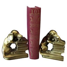 Vintage Dachshund Dog Bookends - PM Craftsman, Philadelphia Manufacturing Co.