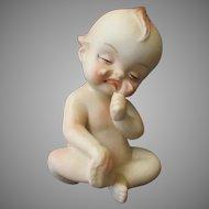 Vintage Porcelain Kewpie Figure – Crying Baby with Hurt Foot