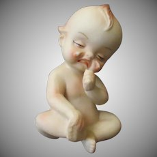 Vintage Porcelain Kewpie Figure – Crying Baby with Hurt Foot
