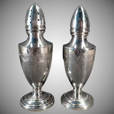 Vintage Sterling Salt and Pepper Set – Vanderbilt Sterling Silver Weighted Shakers