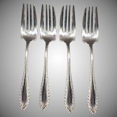 Vintage Sterling Silver Salad Forks – Set of Four - Towle Godroon Pattern