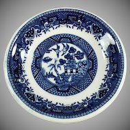Vintage Blue Willow Pattern Butter Pat