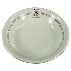 Vintage El Korah Shrine Restaurant China Dessert Bowl - 1922