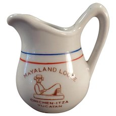 Vintage Restaurant China Creamer - Mayaland Lodge Yucatan Cream Pitcher