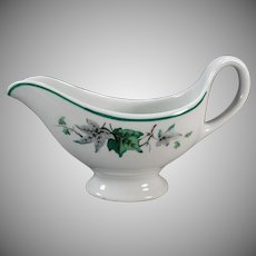 Vintage Restaurant China - Ivy Glen Pattern Sauce Pitcher – Shenango 1961