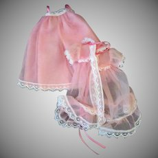 Vintage Betsy McCall Doll Outfit by Robert Tonner – 2pc Pink Peignoir Negligee