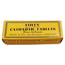 Vintage Medicine Box - Foley Cathartic Laxative Tablets Box