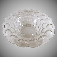 Vintage Heisey Console Bowl - Clear Provincial #1506 Pattern