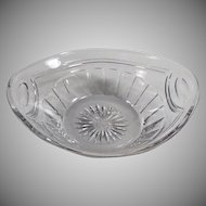 Vintage Heisey Glassware - Small Serving Bowl or Nappy - 1916 Patent