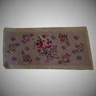 "Vintage Floral Needlepoint – 11"" by 27"" Needle Work Several Flowers"