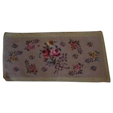 """Vintage Floral Needlepoint – 11"""" by 27"""" Needle Work Several Flowers"""