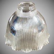 Single Vintage Glass Light Fixture Shade - Old I-5 Holophane
